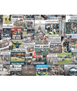 Philadelphia Eagles 2018 Super Bowl Newspaper Headline Collage Print.  - $24.99+