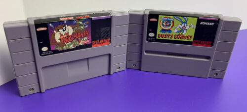 Primary image for CARTRIDGES ONLY - Taz-Mania + Buster Busts Loose Super Nintendo SNES 1993