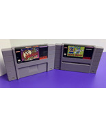 CARTRIDGES ONLY - Taz-Mania + Buster Busts Loose Super Nintendo SNES 1993 - $19.79