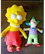 The Simpsons Lisa and Krusty The Clown Plush Toy Doll Set of 2 Toy factory - $12.86