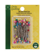 Dritz Quilting Pearlized Pins 100/Pkg-Multicolor Size 24 - $10.40
