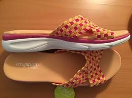 Easy Spirit e360 ESPelia Open Toe Canvas Slip On Sandals NEW Retail $49.99 - $42.00