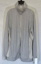 NWT Men's Calvin Klein Full Zip Cotton Sweater Gray XL - $59.39