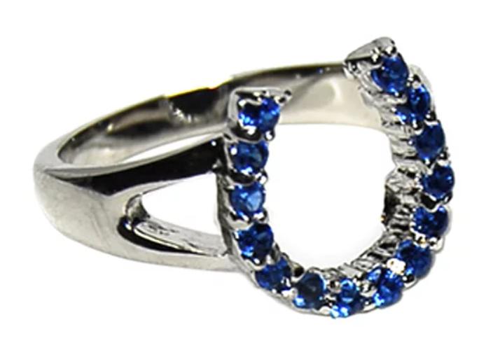 Sapphire horseshoe ring