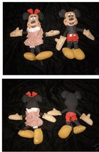 Disney Mickey Mouse & Minnie Mouse Dolls Knickerbocker 1970s Rag Dolls - $19.99