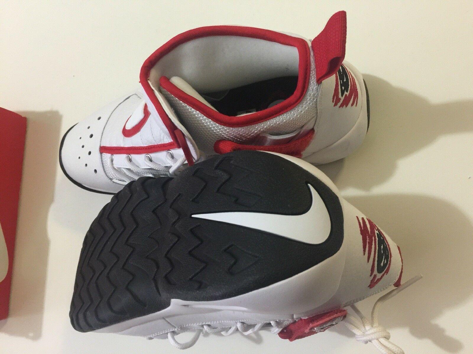 Nike Air Shake Ndestrukt Men's Basketball Shoes White/Red 880869 100 Size 11 image 10