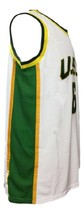 Bill Russell #6 College Basketball Jersey Sewn White Any Size image 3