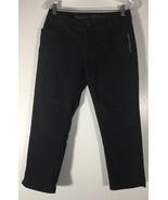 Women's Jeans 3/4 Length Black Skinny Size 4 Simply Vera Embellished Ver... - $17.81