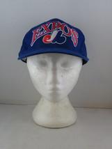 Montreal Expos Hat (VTG) - Oversize Script by Starter IBM  Promo -Adult Gripback - $65.00