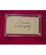AUDIE MURPHY  Autographed Signed Signature Cut w/COA - 30698 - $125.00