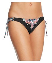 Wmns Red Carter Floral Side Tie Cali Bikini Bottom Only Black Multi SZ: S - €29,84 EUR