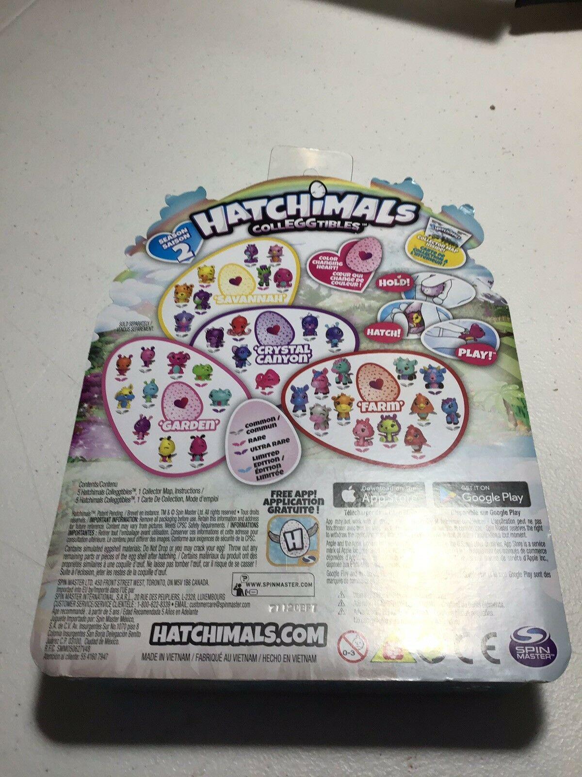 Hatchimals CollEGGtibles 4 Pack+Bonus Season 2 Find Golden Hatchimal Age 5 G2A08
