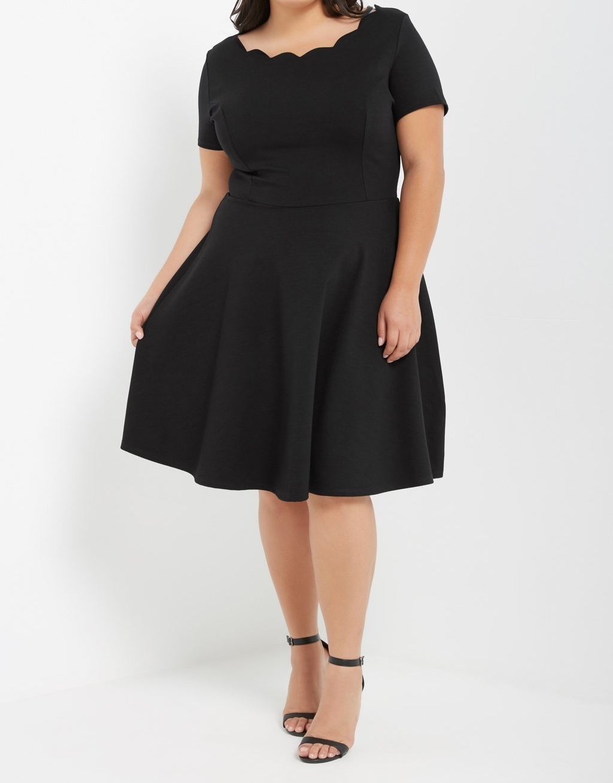 Plus Size Black Dress, Black Classic Dress, Plus Little Black Dress ...