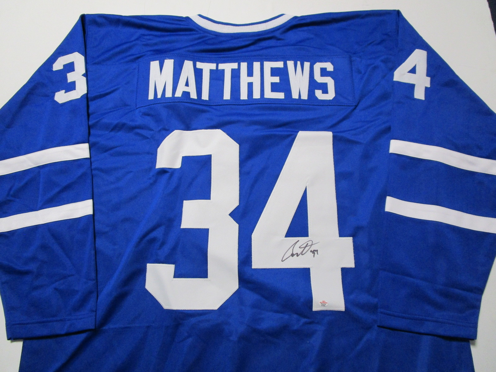 AUSTON MATTHEWS / TORONTO MAPLE LEAFS / AUTOGRAPHED CUSTOM HOCKEY JERSEY / COA