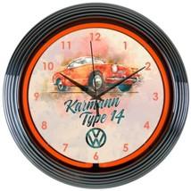 """Licensed Volkswagen Karmann Car Garage Neon Clock 15""""x15"""" - $72.99"""