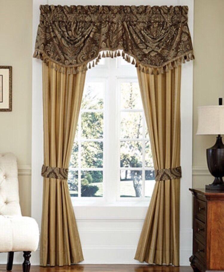 "CROSCILL Estate Window PANELS Size: 82 x 84"" New SHIP FREE Set 2 Lined ASHFIELD - $170.00"