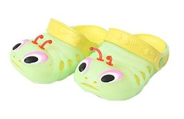 Kids Sandals In/Outdoor Toddler Clogs Shoes/Green Caterpillar 16.1CM Length