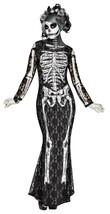 Fun World Spitzen- Knochen Zuckerschädel Skelett Erwachsene Damen - $37.64