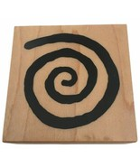 PSX Wood Mounted Rubber Stamp Medium Spiral Card Making Paper Crafting E1935 - $6.99