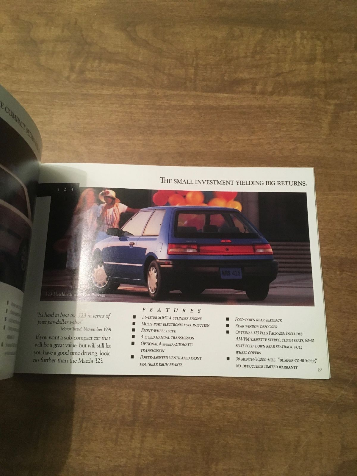 1992 Mazda Line Sales Brochure 929 Rx-7 MX-6 Navajo 323 Miata Protege Truck