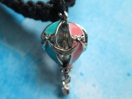 Handmade Black Hemp Necklace with Awesome Hot Air Balloon Charm Pendant - $10.00