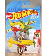 2018 Hot Wheels FRR91 HW DAREDEVILS 4/5 MAD PROPZ Plane Yellow/Red w/Gre... - €5,52 EUR