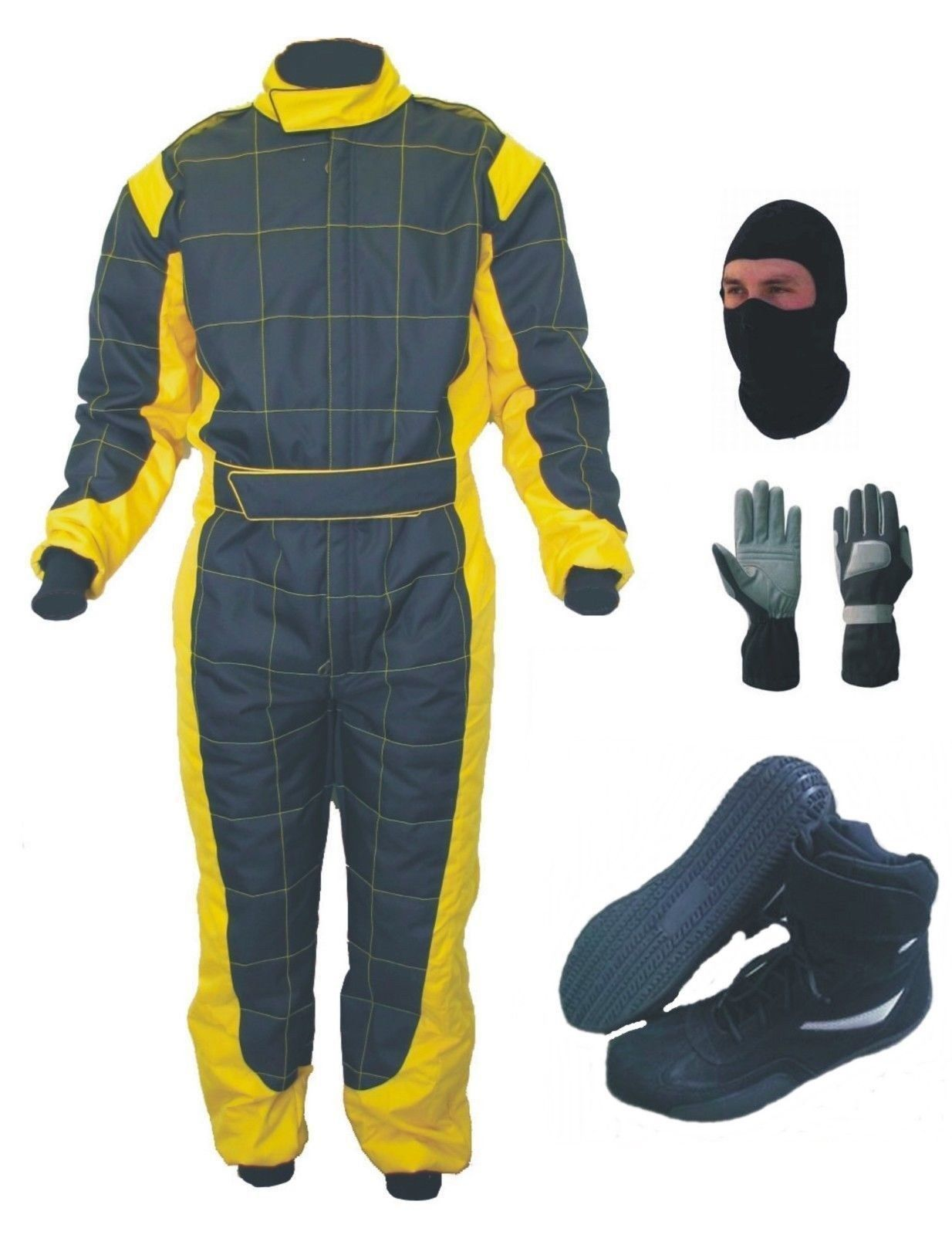 Latest Design Go Kart Race Suit Pack With Shoes And Gloves (Free gifts included)