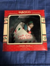 1989 New in Box - Enesco Christmas Ornament - Stickin To It - #563013 - $8.90
