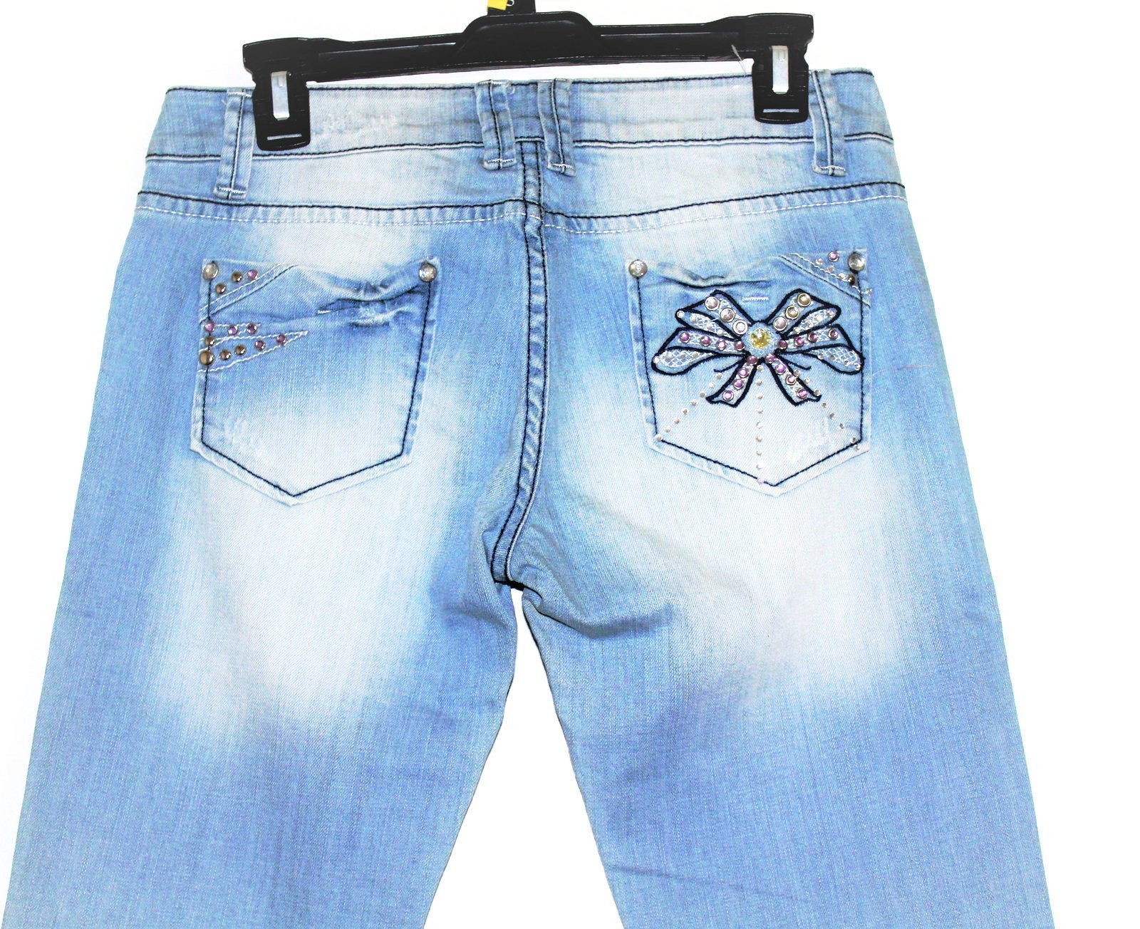 Liuce's light blue boot cut denim jeans