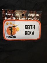Hawaiian Name Patch Keith Keka Hawaii New - $10.00
