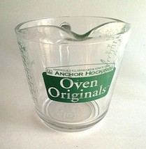 Anchor Hocking Oven Originals 1 Cup Measuring Cup Green - $15.11