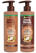2 Pack Sulfate Free Remedy Coconut Oil Shampoo For Very Frizzy HAIR12.0FL Oz - $31.68