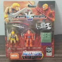 He-Man vs Beast Man Mega Construx MOTU Masters Of The Universe Figures S... - $8.59