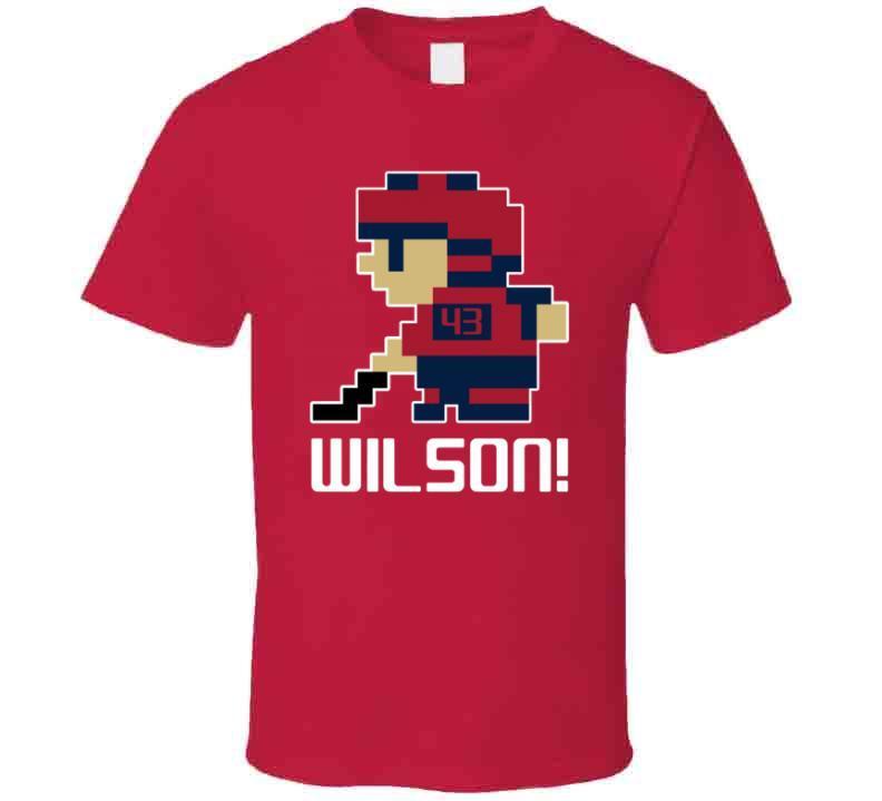 Tom Wilson # 43 Tecmo Washington Hockey Athlete Fan T Shirt