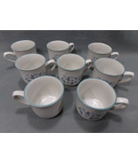 Set of 8 Vintage Mugs, Cups Ashberry Pattern By Country Ware.  Japan VGUC! - $15.95