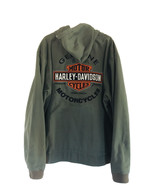 Genuine Harley Davidson Long Sleeve Hoodie Khaki Green Full Zip Tall 3XL... - $137.51