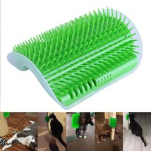 Cat Massage Device Self Groomer Pet Wall Corner Hair Brush Comb Catnip Toy - $8.81