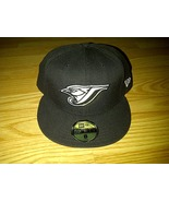 New Era NE 59fifty 59 fifty MLB Toronto Blue Jays Black White Fitted Ca... - $24.99