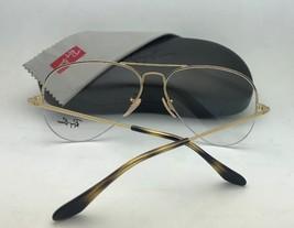 New RAY-BAN Eyeglasses RB 6589 2501 59-15 140 Aviator Semi Rimless Silver Frames