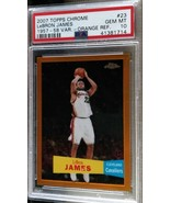 2007-08 Topps Chrome LeBron James Orange Refractor Var PSA 10 Gem Mint #27/199 - $1,299.99