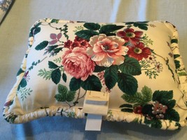 """WAVERLY Floral Grapes Throw Pillow Pleasant Valley Gathered Edging 17"""" x... - $18.70"""