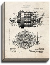 Rotary Engine Patent Print Old Look on Canvas - $39.95+