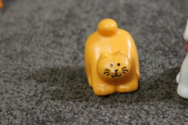 HTF Vintage Little tikes Doll House Family Pet Figures, Cat, Dog, Teddy ... - $39.55