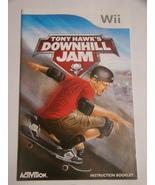 Nintendo Wii - TONY HAWK'S DOWNHILL JAM (Replacement Manual) - $8.00