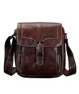 BDF Men Bag Vintage Genuine Cow Leather Messenger Bag Coffee Colour Shou... - $77.23