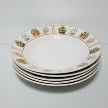 "Set of 5 Everyday Gibson Aviara Birdhouse Soup Salad Cereal Bowl 8"" Diameter - $16.29"