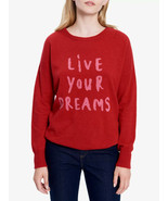 Gerard Darel 2 Sweater Live Your Dreams Cashmere Red Pink Small Women's  - $79.95