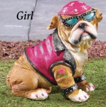 Girl Biker Bulldog - $23.50