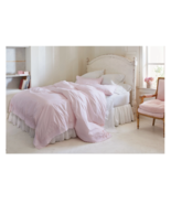 Pink Embroidered Border Duvet & Sham Set - Simply Shabby Chic® Twin Size... - $56.75