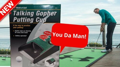 Primary image for Talking Gopher Putting Cup Practice World of Golf Fun Automatically Returns Ball
